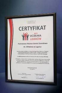 """PWSZ im. Witelona w Legnicy """"Uczelnią Liderów 2015"""" !"""