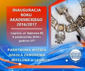 Inauguracja roku akademickiego 2016/2017 w PWSZ im. Witelona w Legnicy