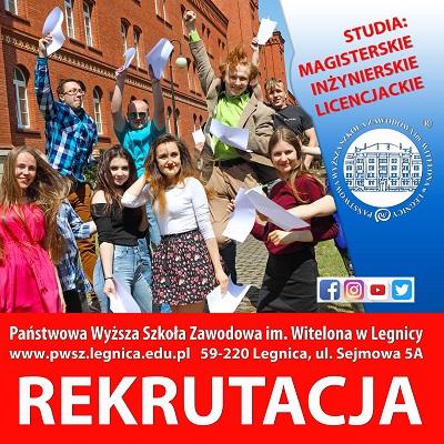 Ostatnie dni rekrutacji na studia w PWSZ im. Witelona w Legnicy  !
