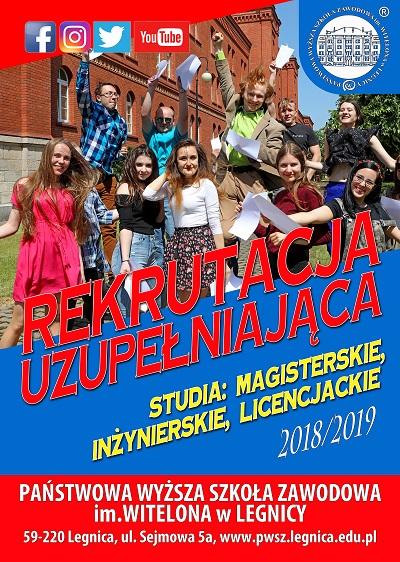 Rekrutacja uzupełniająca na studia w PWSZ im. Witelona w Legnicy