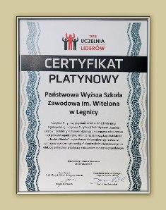 Państwowa Wyższa Szkoła Zawodowa im. Witelona w Legnicy po raz ósmy Uczelnią Liderów !