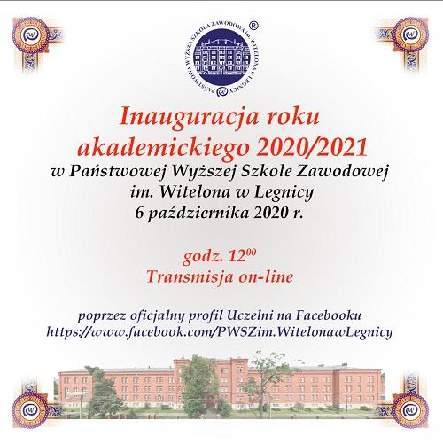 Inauguracja roku akademickiego 2020/2021 w PWSZ im. Witelona w Legnicy