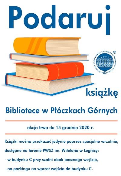 Podaruj książkę Bibliotece w Płóczkach Górnych