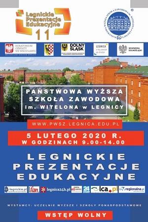 Program XI Legnickich Prezentacji Edukacyjnych w PWSZ im. Witelona w Legnicy