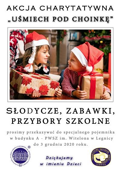"""PWSZ im. Witelona w Legnicy w akcji """"Uśmiech pod choinkę"""""""