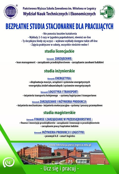 Ucz się i pracuj – skorzystaj z oferty bezpłatnych studiów dla pracujących!