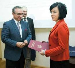 Absolwentka naszej Uczelni laureatką konkursu o nagrodę Prezydenta Miasta Bolesławiec !