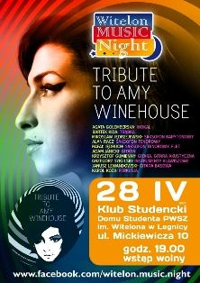 "Witelon Music Night  pod hasłem ""Tribute to Amy Winehouse"""