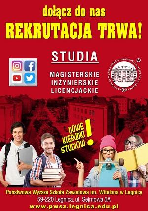 Drugi nabór na studia w PWSZ im. Witelona w Legnicy!