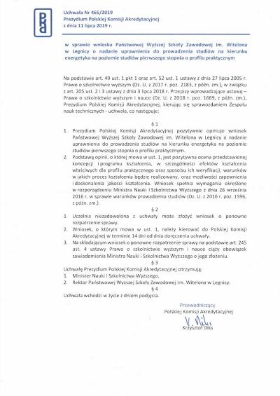 Energetyka z pozytywną opinią Polskiej Komisji Akredytacyjnej