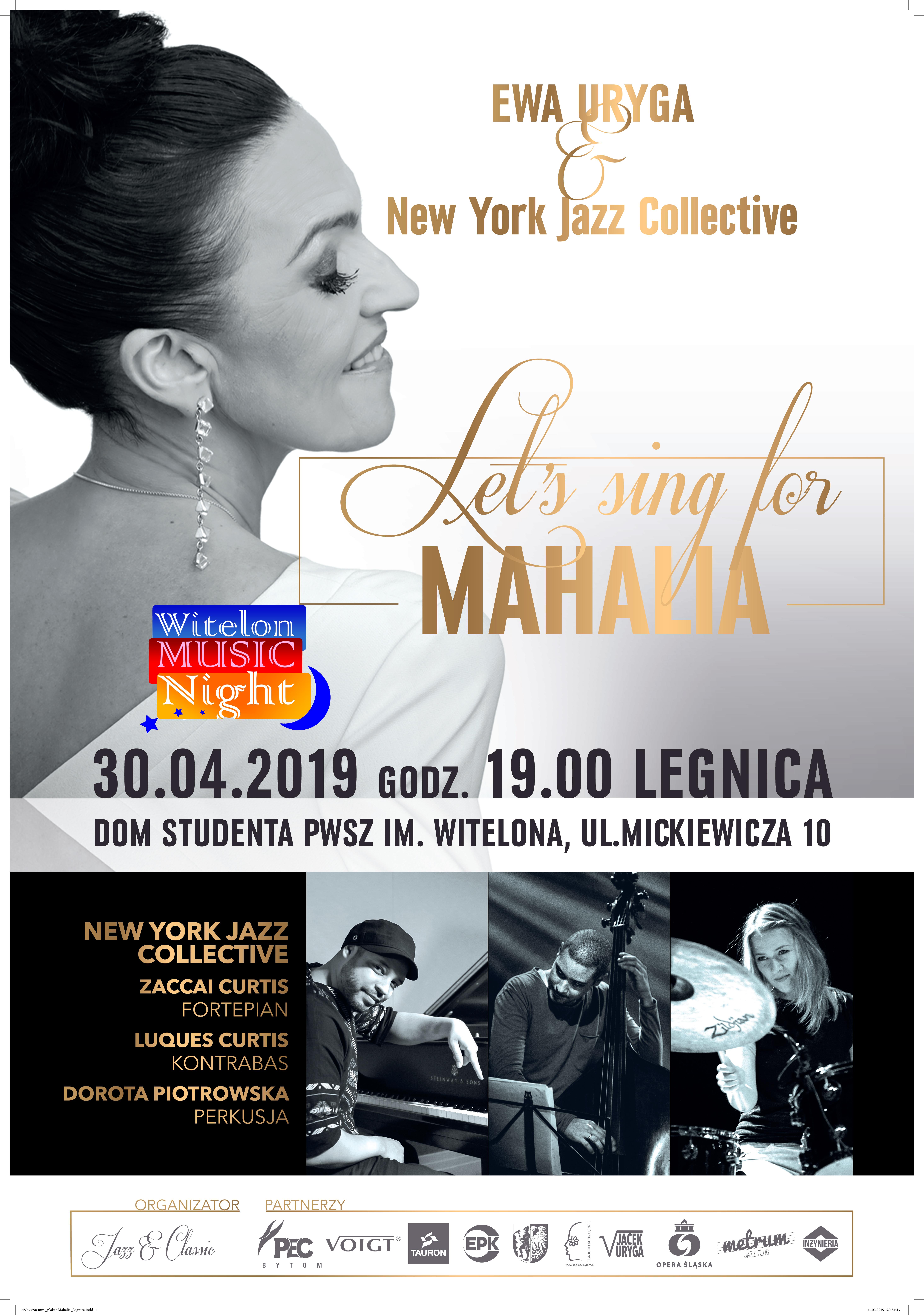 """Ewa Uryga z projektem """"Let's sing for MAHALIA"""""""