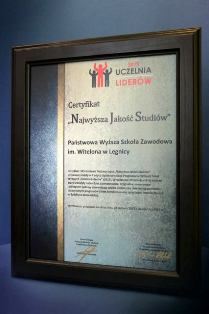"""""""Najwyższa Jakość Studiów"""" – nagroda specjalna dla PWSZ im. Witelona w Legnicy"""