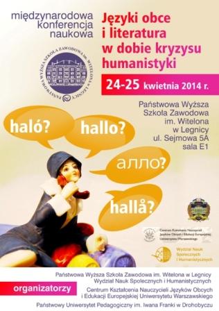 Międzynarodowa konferencja naukowa - Języki obce i literatura w dobie kryzysu humanistyki