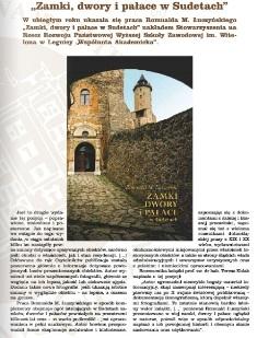 Zamki, dwory i pałace w Sudetach nominowane do Legnickiej Książki Roku 2016