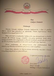 Łukasz Stawarz ponownie trenerem Reprezentacji Polski Mężczyzn w Taekwon-do