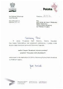 Ministerstwo Gospodarki wspiera studia w PWSZ im. Witelona w Legnicy