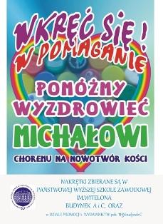 PWSZ zbiera nakretki dla Michała !