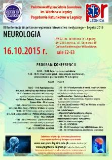 Współczesne wyzwania ratownictwa medycznego – Legnica 2015. NEUROLOGIA