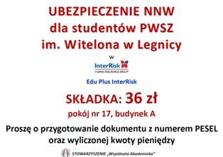 Ubezpieczenie NWW dla studentów !