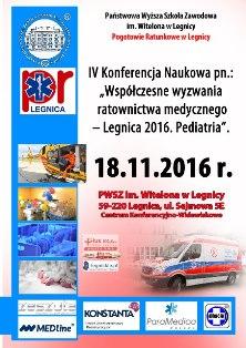 Współczesne wyzwania ratownictwa medycznego - Legnica 2016. Pediatria