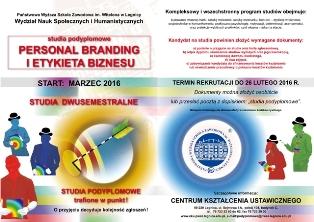 Personal branding – nowe studia podyplomowe w PWSZ im. Witelona w Legnicy