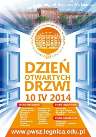 Program  Dnia Otwartych Drzwi w PWSZ im Witelona w Legnicy