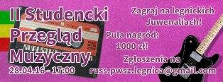 II Studencki Przegląd Muzyczny w PWSZ im. Witelona w Legnicy !