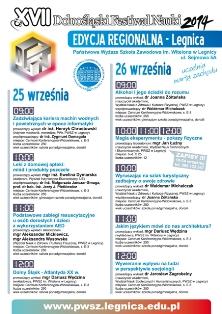 PWSZ im. Witelona w Legnicy zaprasza na Dolnośląski Festiwal Nauki !