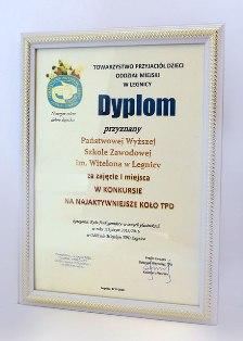 PWSZ im. Witelona w Legnicy nagrodzona za współpracę z TPD w Legnicy !