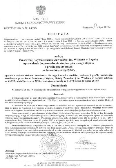 Rekrutacja na nowy kierunek studiów - Energetyka !