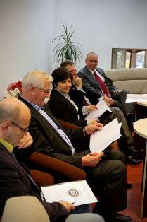 Rada Uczelniana Samorządu Studenckiego na spotkaniu z władzami Uczelni