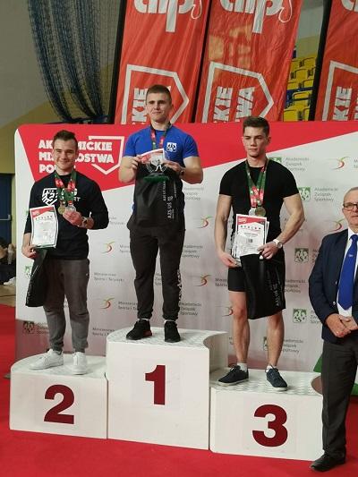 Sebastian Sądej obronił tytuł Akademickiego Mistrza Polski w Trójboju Siłowym Klasycznym w kategorii 74 kg