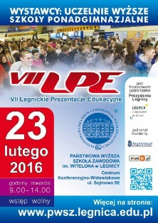 VII Legnickie Prezentacje Edukacyjne w PWSZ im. Witelona w Legnicy - 23 lutego 2016 r.