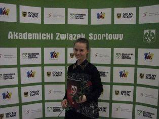 Studentka PWSZ im. Witelona w Legnicy najlepsza na Dolnym Śląsku ! - fot. azs.wroclaw.pl