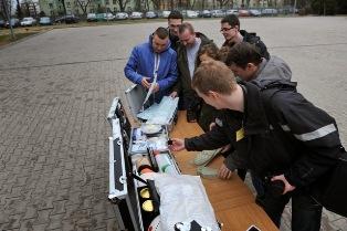 Nasi studenci w Centrum Szkolenia Żandarmerii Wojskowej w Mińsku Mazowieckim
