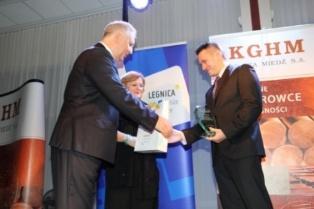 Łukasz Stawarz w gronie najlepszych trenerów Zagłębia Miedziowego 2013 roku - fot. portal.legnica.eu