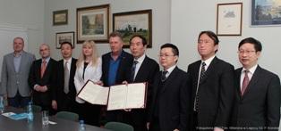 Podpisanie umowy o współpracy z Uniwersytetem w Wuhan